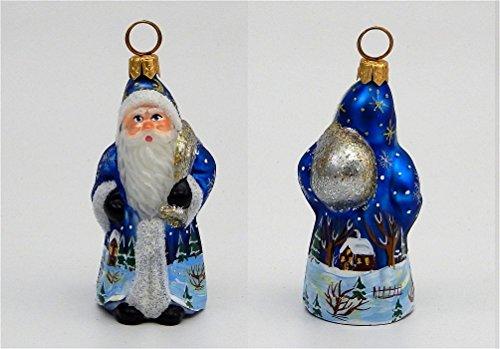 Joy to the World – Mini Schaller Coburg Santa – Blown Glass Ornament