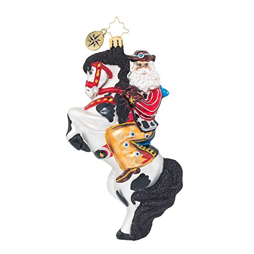 Christopher Radko Rodeo Showman Santa Christmas Ornament