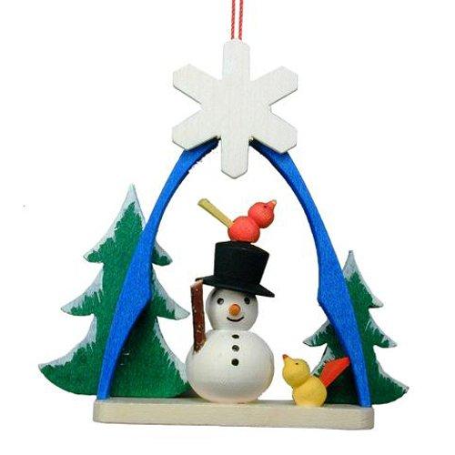 "10-0863 – Christian Ulbricht Ornament – Snowman in Arch – 2.75″""H x 2.25″""W x 1″""D"