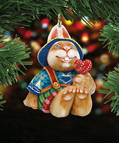 G.DeBrekht's Easter Bunny Friend Wooden Ornament Set of 3 #8154422-S3