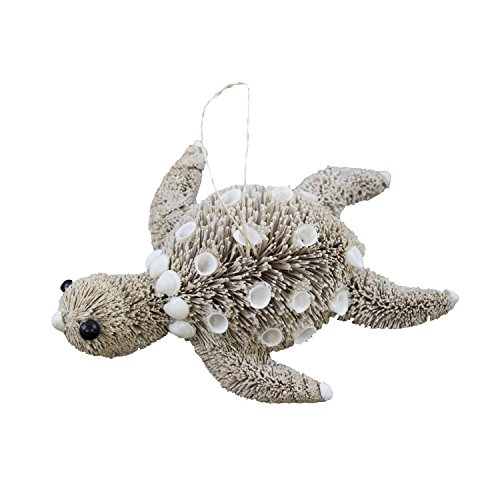 Beachcombers BottleBrush Turtle Ornament Made From Buntal