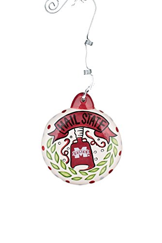 Glory Haus 42000616 Mississippi State Puff Ornament, Multicolor