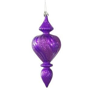 Vickerman 7″ Purple Candy Finish Finial Christmas Ornament, 3 per Box