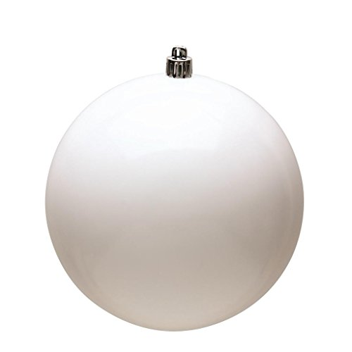 Vickerman 489789 – 2.4″ White Shiny Ball Christmas Tree Ornament (60 pack) (N596011S)