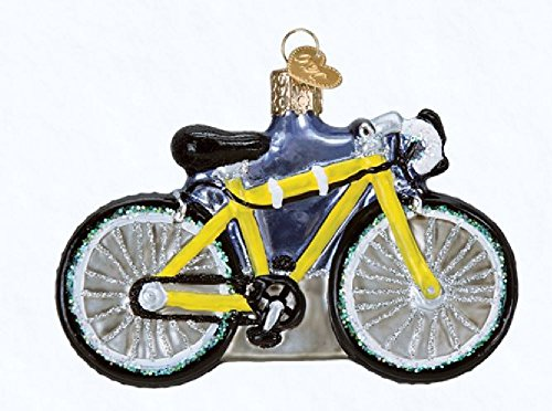 Old World Christmas Road Bike Glass Blown Ornament