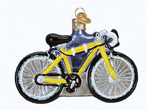 Old World Christmas Road Bike Glass Blown Ornament