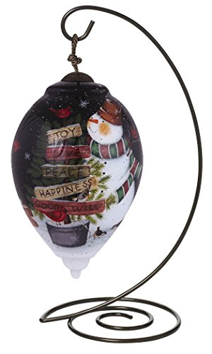 "Ne'Qwa Princess Shaped Glass Ornament With Classic Hanging Stand, ""Gifts from the Garden"" Artist Susan Winget, #7151154"
