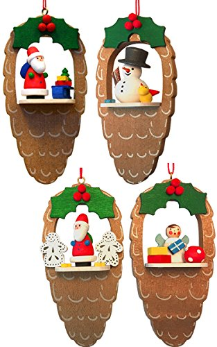 Alexander Taron Christian Ulbricht Santas/ Angel/ Snowman Assortment Decorative Hanging Ornament