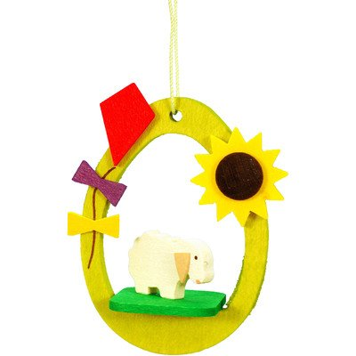 "11-0229 – Christian Ulbricht Ornament – Lamb in Egg – 2.25″""H x 2″""W x .75″""D"