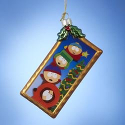 Kurt Adler South Park Glass Postcard Ornament, 4.25-Inch