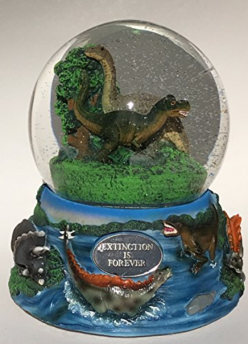 DINOSAUR MUSICAL 100MM SNOW GLOBE DINO WATER BALL MUSIC BOX
