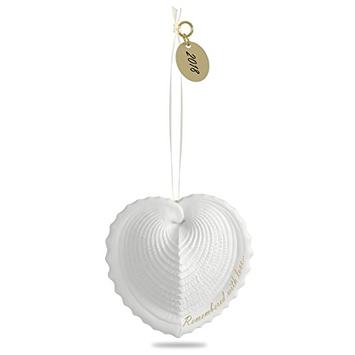 Hallmark Keepsake 2018 Remembered with Love Memorial Bereavement Year Dated Porcelain Christmas Ornament