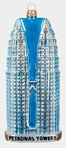 Petronas Towers Kuala Lumpur Malaysia Polish Glass Christmas Ornament Decoration