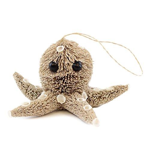 Beachcomber Bottle Brush Octopus Ornament Home Décor Accents