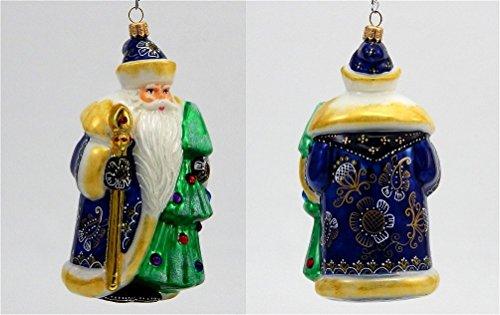 Joy to the World – Glitterazzi Moscow Santa – Blown Glass Ornament
