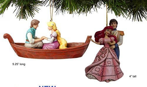 Enesco Disney Traditions Princess Ornaments Ariel and Rapunzel Set Of 2
