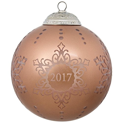 Hallmark Keepsake 2017 Christmas Commemorative Glass Dated Christmas Ornament