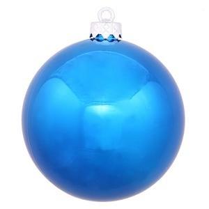 Vickerman 8″ Blue Shiny Ball Ornament