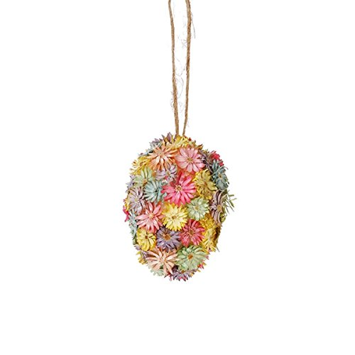 Easter Egg Flower Hanging Ornament, 4 1/2 Inches