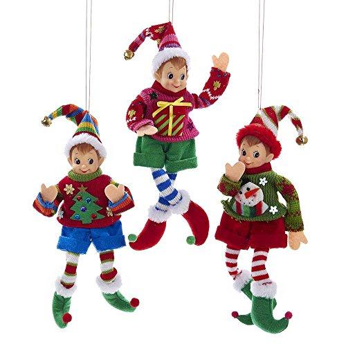 Kurt Adler YAMTD1446 Elf Ornament Set of 3