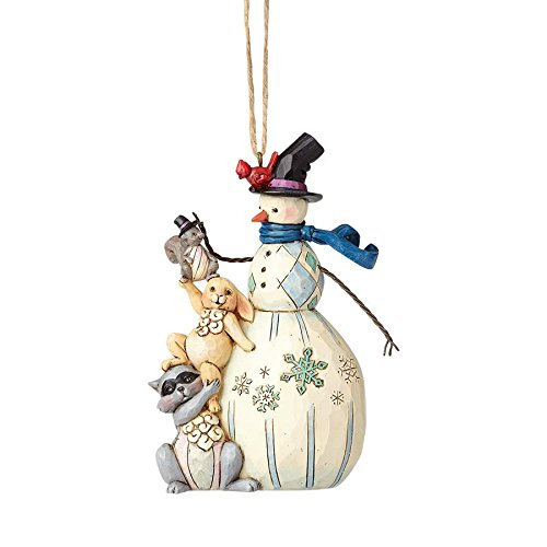 Enesco Jim Shore Whimsical Snowman Ornament