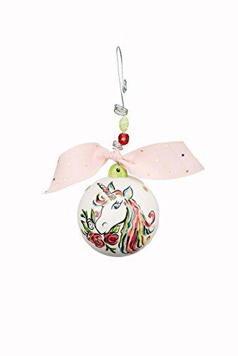 Glory Haus 20100130 Unicorn Ball Ornament, Multicolor