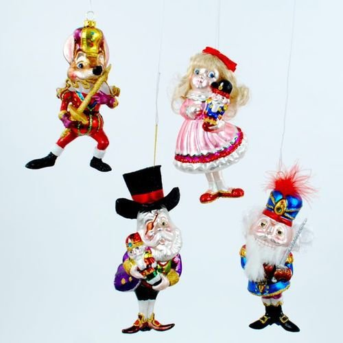 Storybook Nutcracker Ballet Christmas Holiday Tree Ornament Set of 4