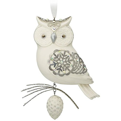 Hallmark Premium Winter White Owl Porcelain Ornament