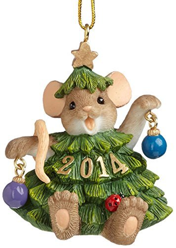 Enesco Charming Tails Gift 2014 Dated Ornament, 2.125-Inch by Enesco
