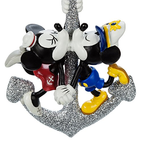 Disney Cruise Lines DCL Captain Mickey Minnie Mouse Silver Anchor Ornament