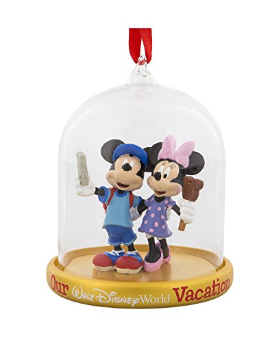 Walt Disney World Mickey Minnie Mouse Tourists Dome Globe Ornament
