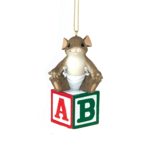 Charming Tails Baby's First Christmas Ornament aka Baby Blocks