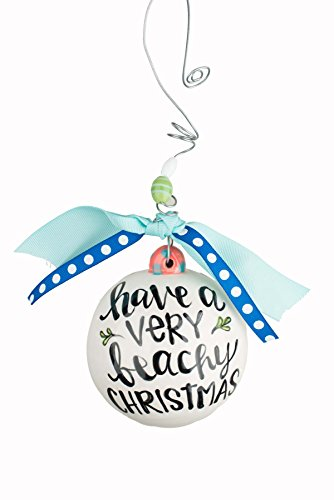 Glory Haus 20100114 Very Beachy Christmas Ball Ornament, 4″ x 4″, Multicolor