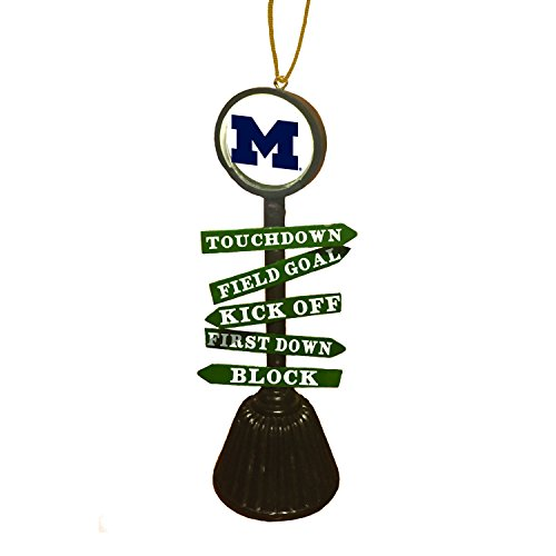 Team Sports America University Of Michigan Fan Crossing Ornament
