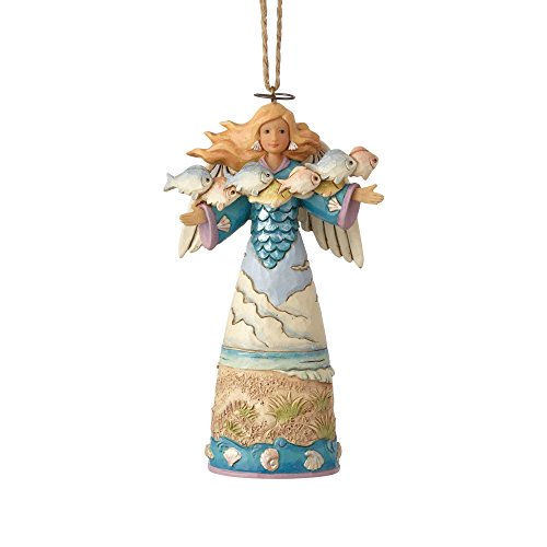 Enesco Jim Shore Heartwood Creek Coastal Angel w/Fish Ornament