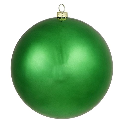 Vickerman Matte Xmas Green Commercial Shatterproof Christmas Ball Ornament 6″ (150mm)