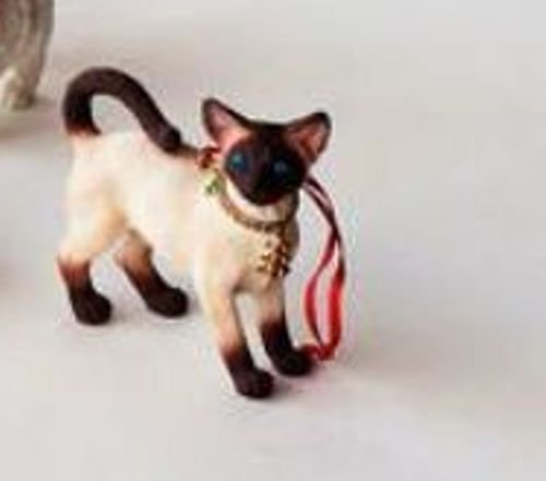 One Hundred 80 Degrees Cat Ornament with Coordinated Bag (Siamese)