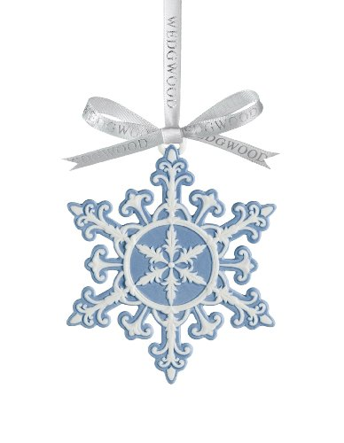Wedgwood 2010 Blue and White Snowflake Christmas Ornament