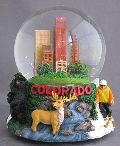 Musical Colorado Souvenir Snow Globe 100mm