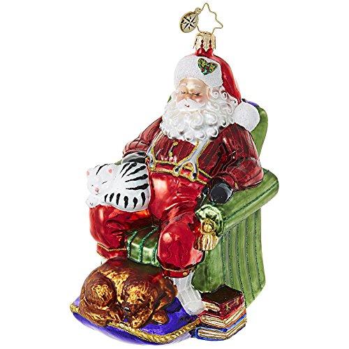 Christopher Radko Snoozing Santa Claus Christmas Ornament