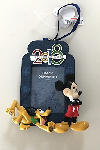 Walt Disney World Mickey Mouse Pluto 2018 Photo Frame Ornament with Back Stand