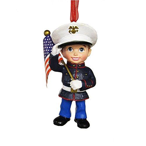 Kurt Adler 3.38″ Resin U.s. Marines Boy Ornament