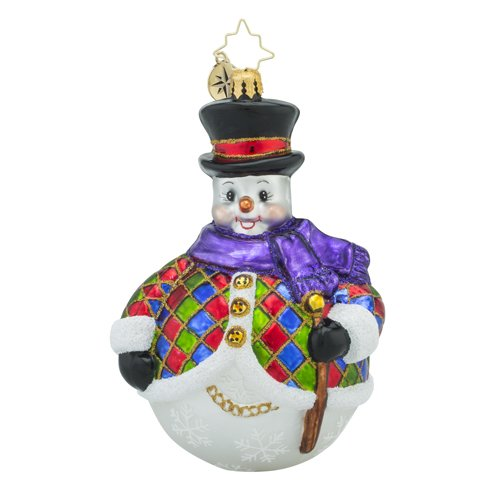 Christopher Radko Chilly-Quin Snowman Christmas Ornament