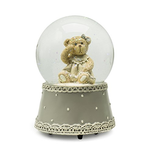 Modali Baby Fine & Elegant Musical Snow Globe Water Ball with Female/Girl Bear