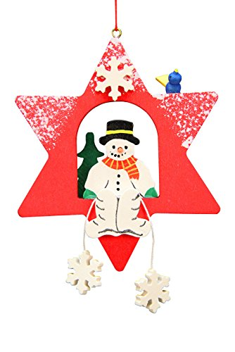Alexander Taron Christian Ulbricht Snowman Star Decorative Hanging Ornament