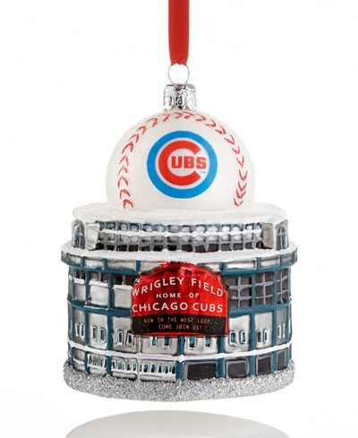 Kurt Adler Chicago Cubs Wrigley Field 3¾-inch Ornament