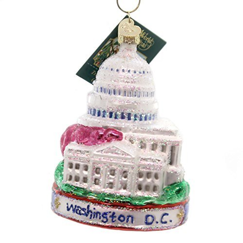 Old World Christmas Washington D. C. Glass Blown Ornament