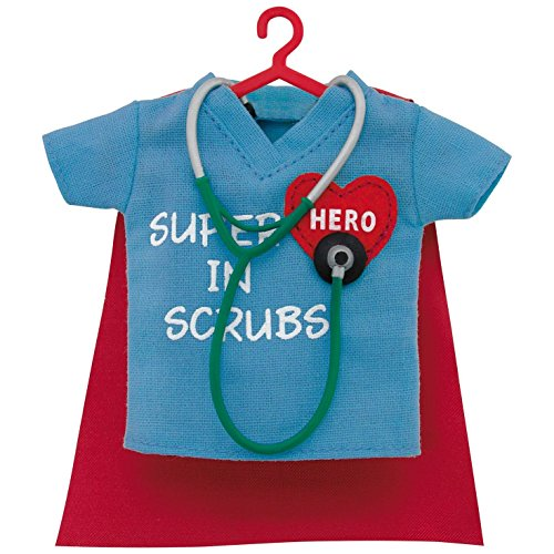 Hallmark Keepsake 2017 Healthcare Superhero in Scrubs Dated Christmas Ornament