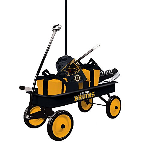 Team Sports America Boston Bruins Team Wagon Ornament