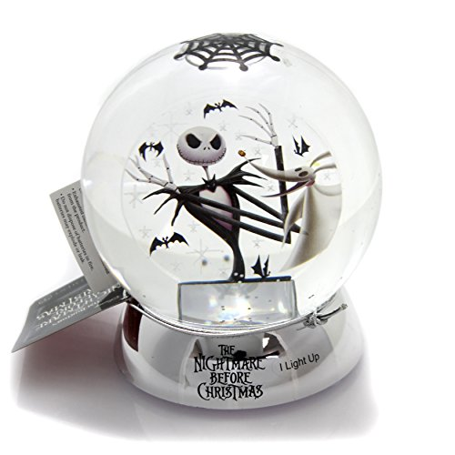 Department 56 Disney Classic Brands Nightmare Before Christmas Jack with Zero Waterball Snowglobe, 4.63″